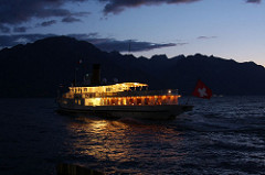 Montreux by night/sunset