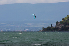 Vevey: Kite surfer