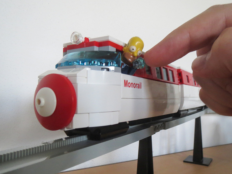 Simpsons Monorail Finger