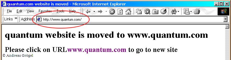 Quantum Homepage