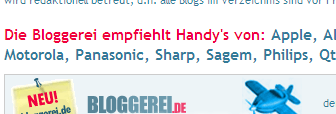 Bloggerei recommends handy's