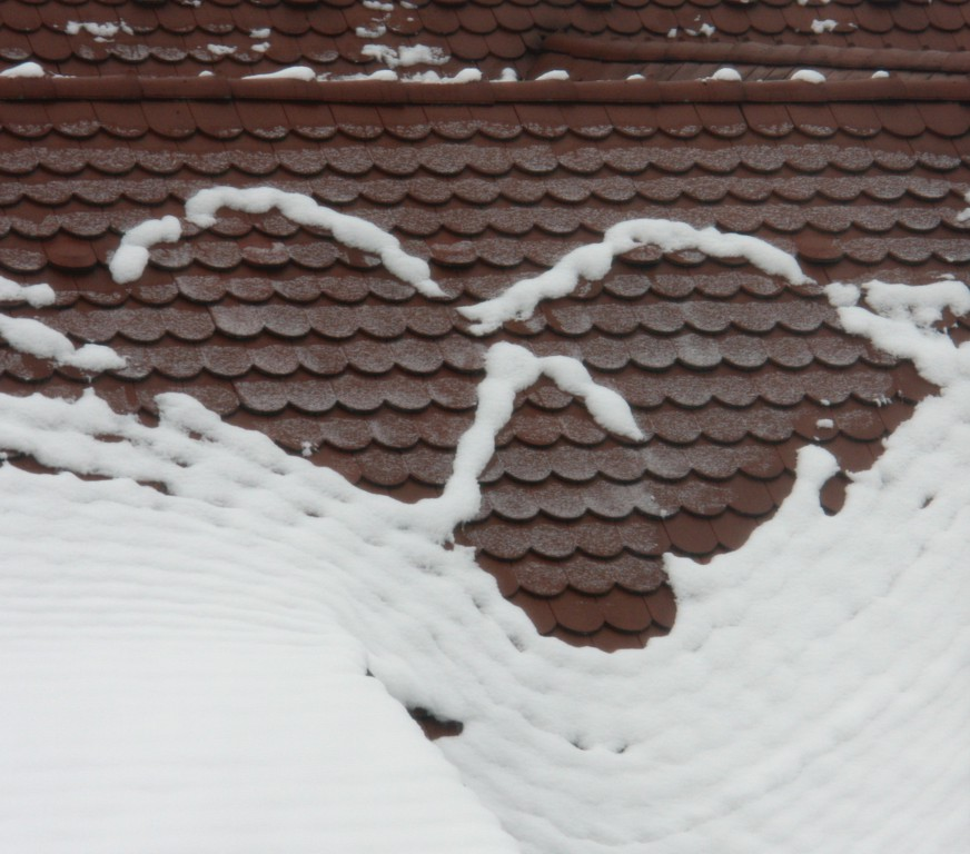 Roof snow face