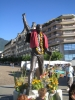 Freddie's decorated statue