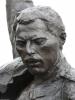 Freddies Statue: Nahaufnahme, noch (weitgehend) ungeschmückt am Donnerstag.