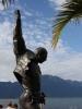 Freddies Statue am Freitag Morgen.