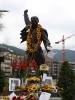 Freddies geschmückte Statue am Samstag.