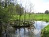 Das kleine Inselchen im Skulpturenpark im Frühling