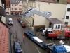 Rolltreppe wird angehoben