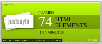 HTML quiz: 74