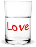 Wasserglas Love