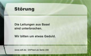 Störung – Die Leitungen aus Basel sind unterbrochen. Wir bitten um etwas Geduld.