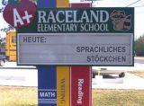 Schul-Schild Stöckchen