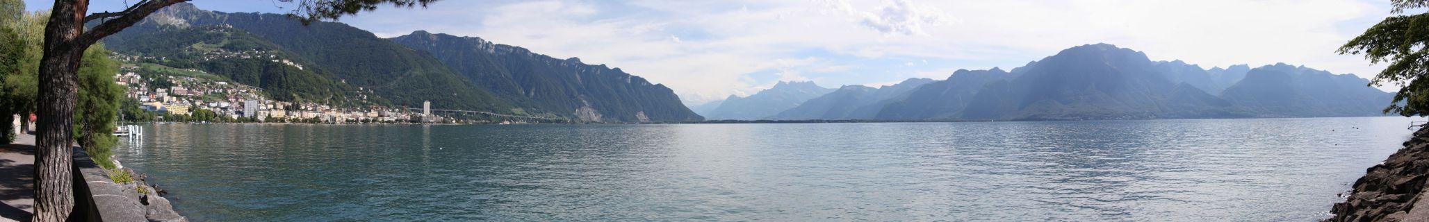 Montreux-Panorama von Clarens aus