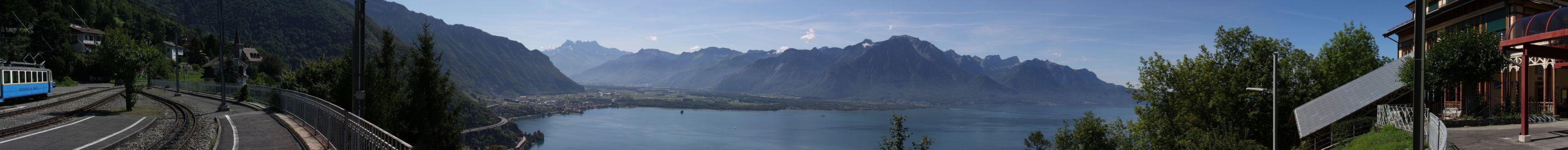 Montreux-Panorama von Glion aus