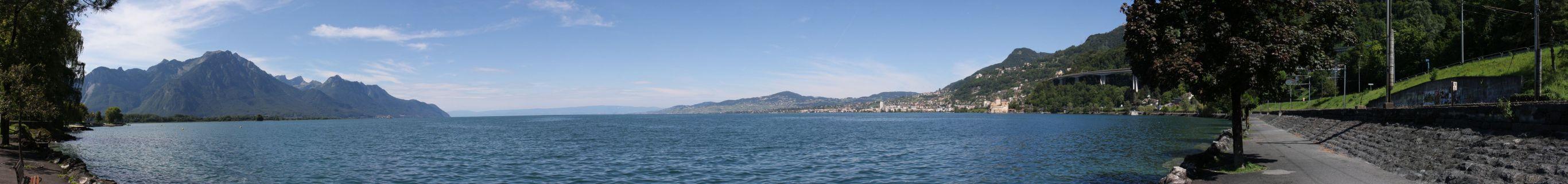 Montreux-Panorama von Villeneuve aus