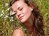 Gesicht mit Blumen