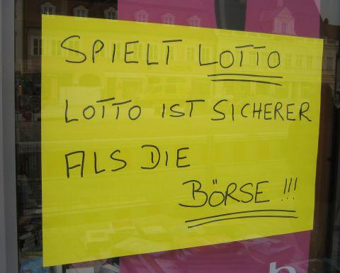 Spielt Lotto - Lotto ist sicherer als die Börse!!!