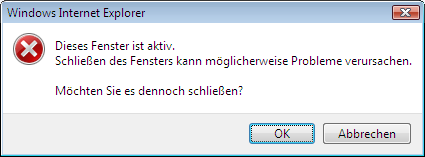 Dialog: aktives Fenster