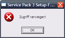 XP SP3 Fehler 1