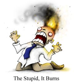 The stupid, it burns