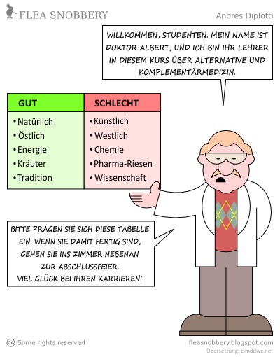 Flea-Snobbery-Cartoon: Crash Course (deutsch)