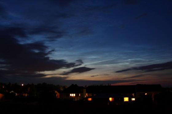 Leuchtende Nachtwolke