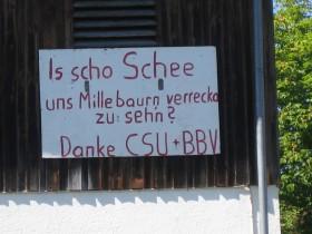 Millebaurn-Protestschild