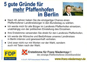 FDP-Postkarte Rückseite