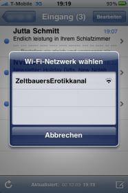 iPhone-WLAN-Auswahl: ZeltbauersErotikkanal