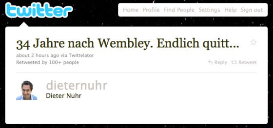 dieternuhr: 34 Jahre nach Wembley. Endlich quitt...