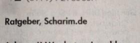 Scharim-Kleinanzeige