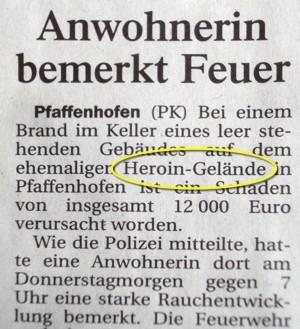 Heroin-Gelände