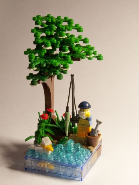 Fisherman vignette with minifig