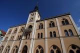 Pfaffenhofener Rathaus von schräg unten