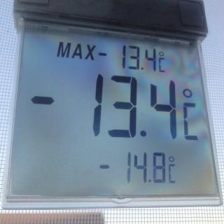 -13,4°, Tiefsttemperatur -14,8°