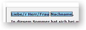 Liebe/r Herr/Frau Nachname