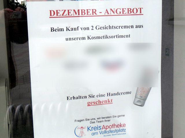 Dezember-Angebot: Beim Kauf von 2 Gesichtscremen erhalten Sie eine Handcreme geschenkt