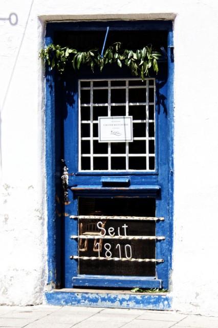 Tür zu Korbgeschäft