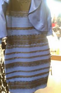 weiß-goldenes Kleid