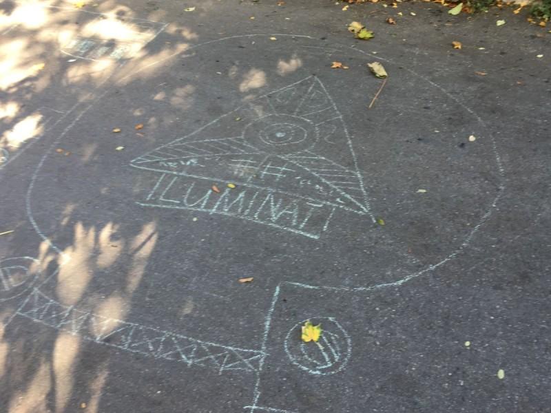 Kreidemalereien: Iluminati
