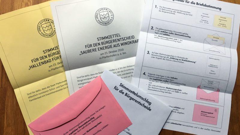 Stimmzettel Bürgerentscheid 2016