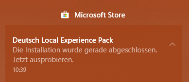 Microsoft Store: Deutsch Local Experience Pack